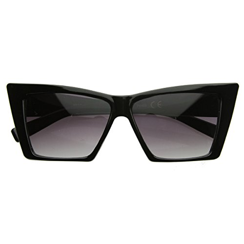 High Pointed Cat Eye Sunglasses Sharp Geometric Square Frame Cateyes