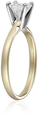 IGI-Certified-14k-Gold-Princess-Cut-Diamond-Engagement-Ring-34-carat-H-I-Color-SI1-SI2-Clarity