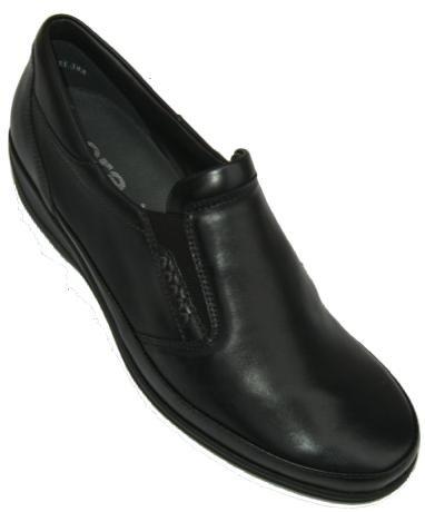 Ara Damenschuhe bequem Softcalf-leder, herausnehmbares Lederfußbett, PU-Sohle in schwarz Weite H, Größe 36 2/3, Artikelnummer EH240164