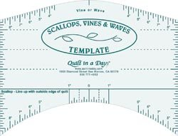 Quilt In A Day Scallops Vines & Waves Template 9