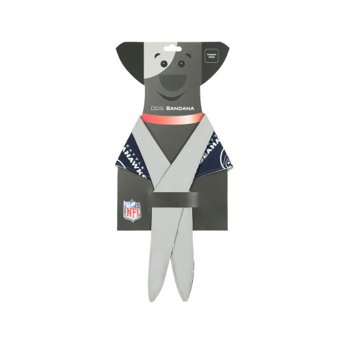 In Dog We Trust 50 to 80-Pound Dogs Seattle Seahawks Bandana, Large at Amazon.com
