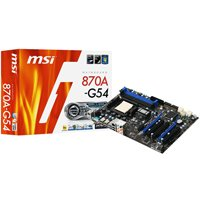 MSI 870A-G54 - Motherboard - ATX - Socket AM3 - AMD 870 - USB 3.0 - Gigabit Ethernet - HD Audio (8-channel)
