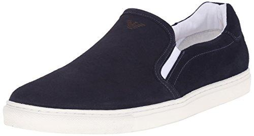 Scarpe uomo Armani Jeans, scamosciate blu art. C657696 (45, Blu)