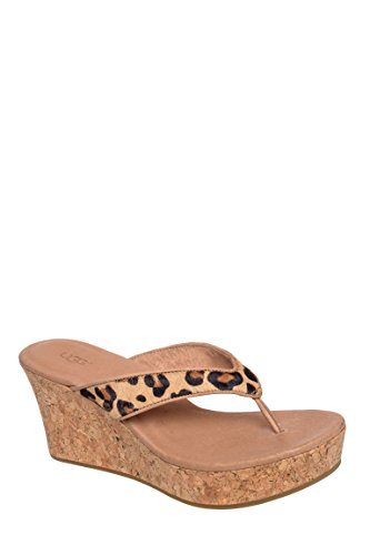 W Natassia Calf Hair High Wedge Flip Flop Sandal