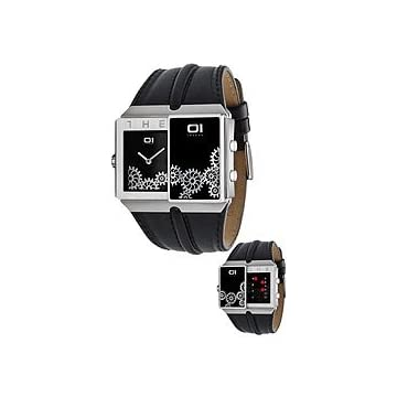 01TheOne Binary System Slider Black Dial Men's watch #SD226R1