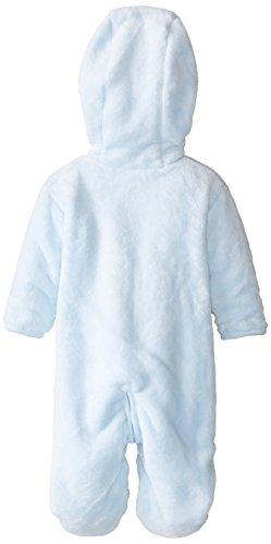 ABSORBA Baby Boys Newborn Elephant Fuzzy Footie Blue 0 3