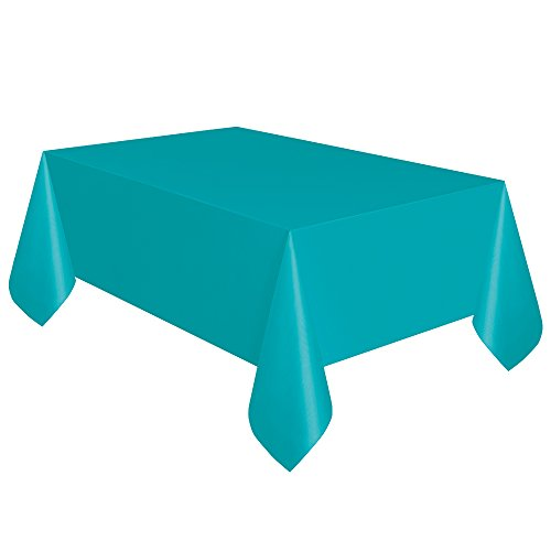 "Teal Plastic Tablecloth, 108"" x 54"""