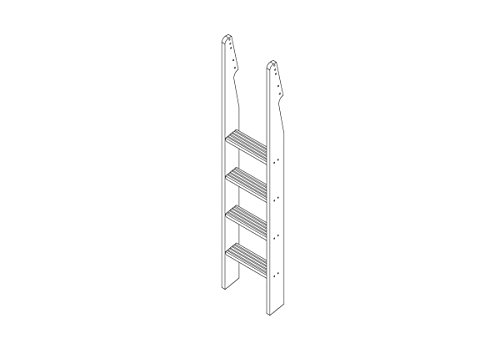 White Wooden Bunk Beds 6144 front