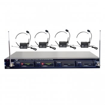 Awm Pyle Pro Pdwm4400 4-Microphone Vhf Wireless Lavaliere/Headset System - Wireless Microphones