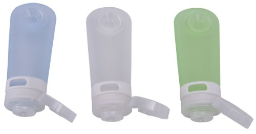 humangear GoToob Travel Bottles, 3-pack, Clear/Blue/Green, Medium (2 oz) - abouther.net