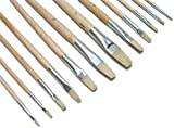 Flachborstenpinsel Set mit 12 Stck