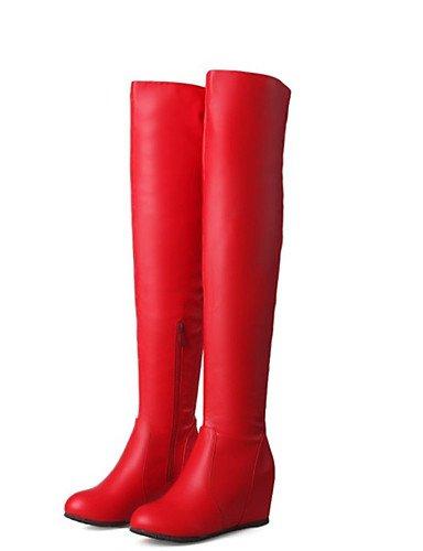 LY&TiMu Chaussures de danse(Noir / Rouge / Blanc) -Non Personnalisables-Talon Plat-Similicuir-Bottes de danse