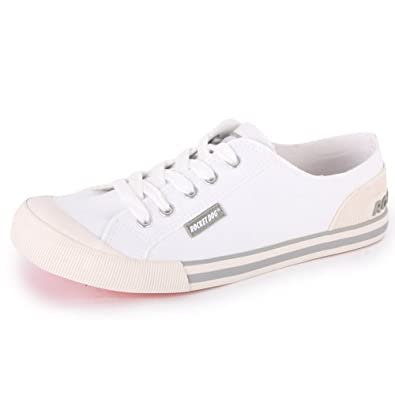 Rocket Dog Jazzin Womens Laced Canvas Trainers White - 3