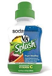 Sodastream V8 Splash Fruit Medley Sparkling Drink Mix New Flavor!