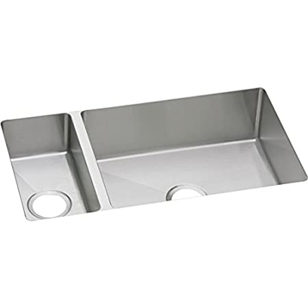 "Elkay EFRU321910DBG 16 Gauge Stainless Steel 32.25"" x 18.25"" x 10"" Double Bowl Undermount Kitchen Sink Kit"