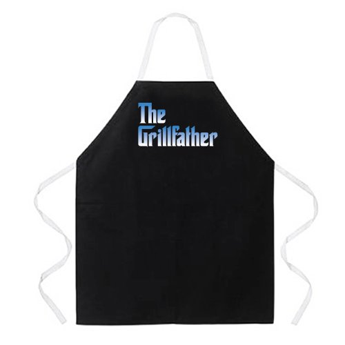 Attitude Apron The Grillfather Apron, Black, One Size Fits Most