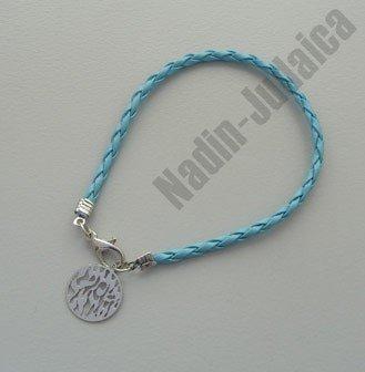 Kabala Bracelets Braided Turquoise Shma Israel