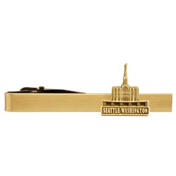 LDS Seattle Washington Temple Gold Steel Tie Bar - Tie Clip - Priesthood Gift, LDS Missionary, Tie Clip