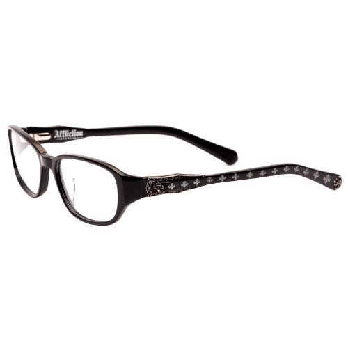 Affliction ALEX Designer Eyeglasses - Black/Silver