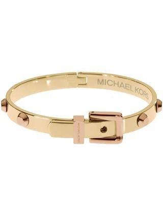 Michael Kors Mkj1891 Astor Gold Bracelet With Rose Gold Accents