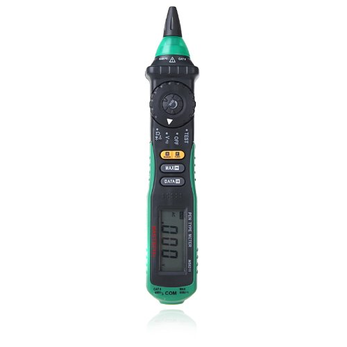 Mastech Ms8211 Digital Multimeter Pen-Type Non-Contact Ac Voltage Detector Auto-Ranging Test Clip Carrying Bag