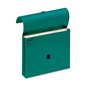 Wilson Jones ColorLife File Wallets with Velcro Grippers, 3.5 Inch Expansion, 9.5 x 11.75 Inches, Green, 10 Wallets Per Box (WCC719-4G)