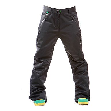 GFROG  RAINBOW 20000mm Wasserdichte Unisex Ski Pant (Multi-color verfügbar),Black,L