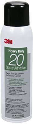 3M Heavy Duty 20 Spray Adhesive Clear, 20 fl oz can, Net Weight 13.75 oz (Pack of 1)