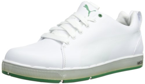 Puma Mens HC Lux 185831 Golf Shoes 185831-02 White/Green 10 UK, 44.5 EU