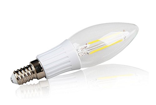 Led2020 B11 Led Filament Candle Light 2W To Replace 25W Incandescent Bulb Soft White (2700K)