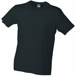 James & Nicholson Homme T-Shirt Coupe ajustée Gris graphite s