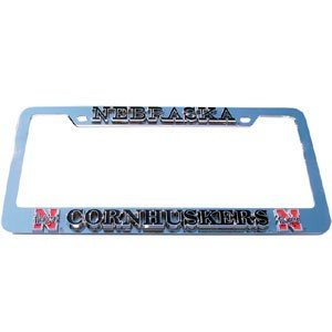 Nebraska Huskers Deluxe Metal License Plate Frame