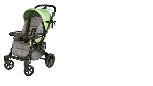 Peg Perego Uno Convertible Carriage To Stroller System In Bubbles Green front-376862