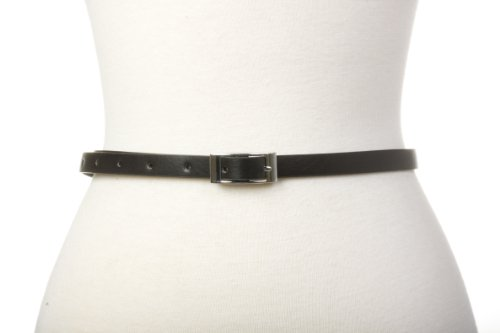 "Black Skinny Belt,Body waist size 26""-33"""