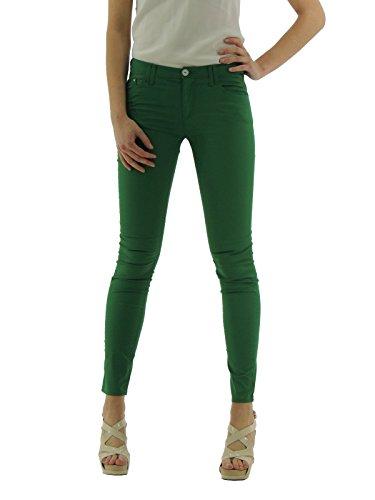 Armani Jeans pantalone donna cinque tasche sconto 35% (27, verde)