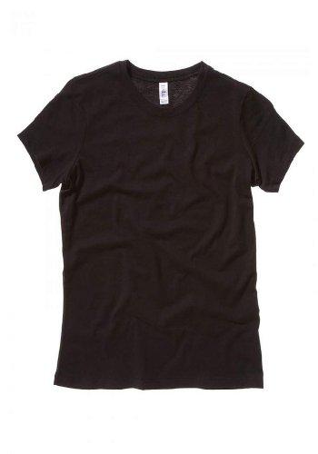 Bella Ladies Super soft 1x1 baby rib knit fabric T Shirt - Black - Large