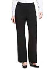 M&S Collection Supercrease™ Angled Seam Bootleg Trousers