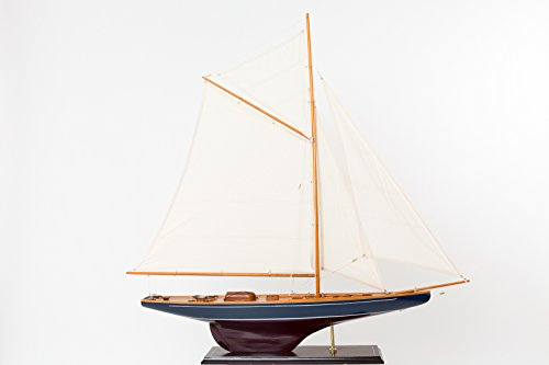 "Nautical memorabilia - solid model ship - yacht boat - wood - 3'7"" (109cm)"