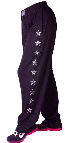 Crazee Wear Classic Style 500 Baggy Pants Black / Silver Stars (Lg) front-936803