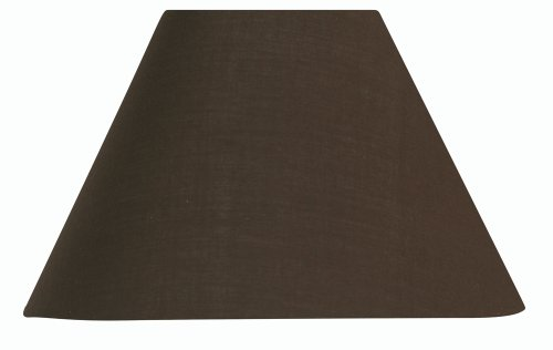 Oaks-Lighting-Abat-jour-en-coton-Marron-chocolat-40-cm
