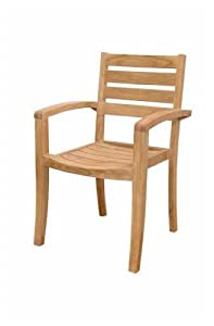 Catalina Unfinished Stackable Armchair - Set of 4 from Anderson Teak