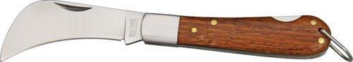 Wild Boar Knives 1004 Hawkbill Knife With Rich Grain Wood Handles