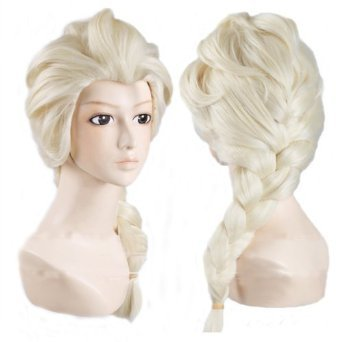 Hiliss Cosplay Costume Wig Party Hair for Elsa (Light Blonde)
