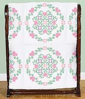 Stamped White Quilt Blocks 18X18 6/Pkg