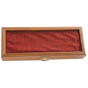 Ka-Bar 2-1437-0 Walnut Display Case Plain Glass 13-Inch Knife