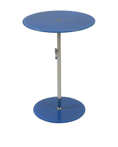 Eurostyle Radinka Round Glass Table, Blue