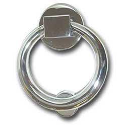 Modern chrome door knocker