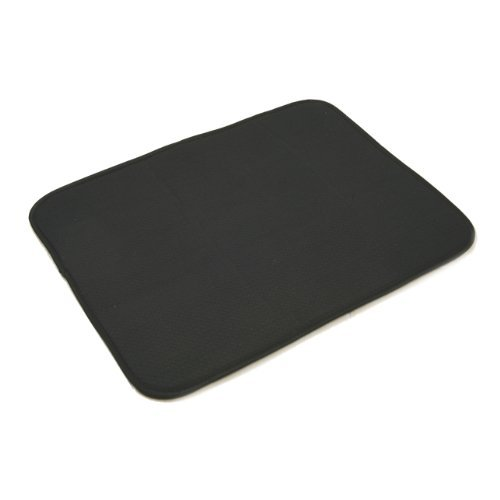 Norpro 359E Microfiber Dish Drying Mat, Black Color: Black Size: 16 Inch X 18 Inch Home & Kitchen front-487826