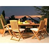 Teak Outdoor Furniture Set with Oval Table - Antonini Outdoor - NT02000SET