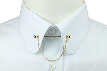 Gold ball collar pin bar clothing for Tie bar collar shirt